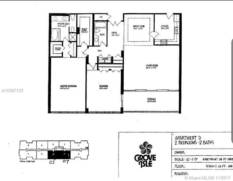 2 GROVE ISLE DR # B1507, Miami , FL 33133