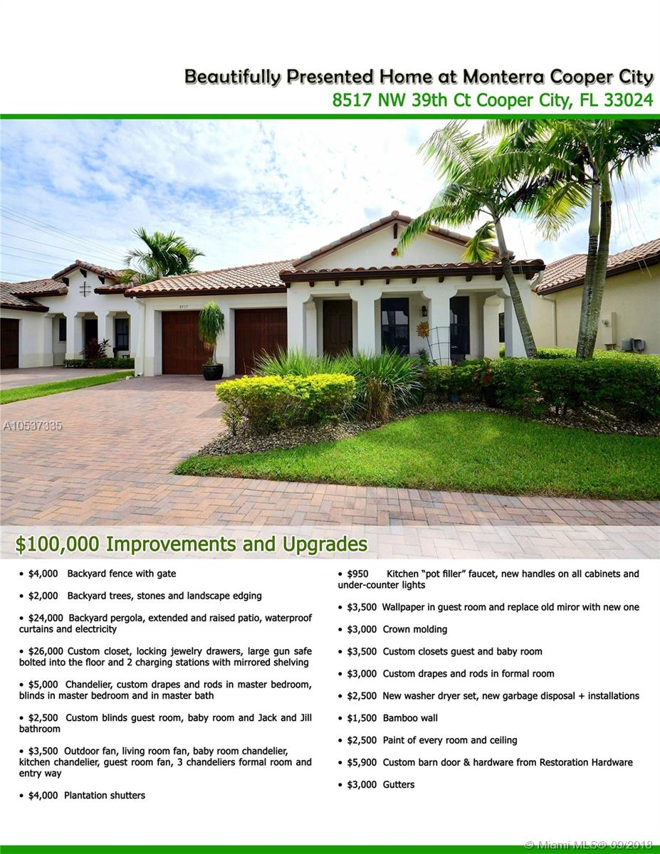 8517 Nw 39th Ct, Cooper City FL, 33024