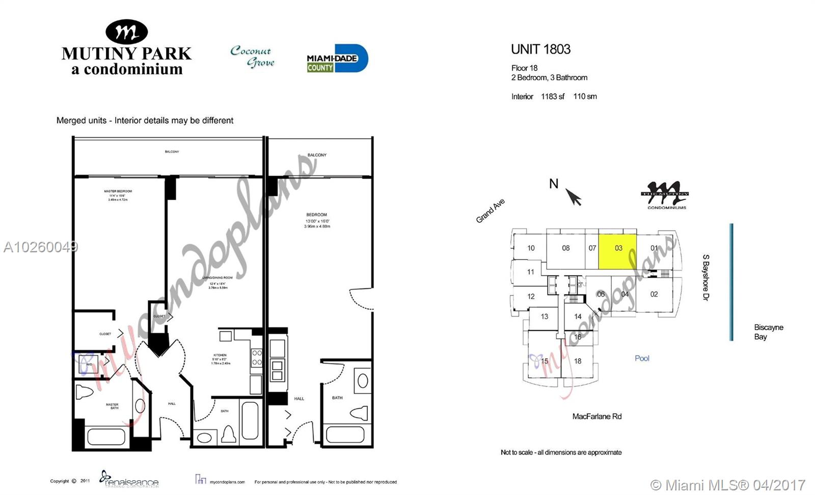 2889 Mcfarlane Rd #1803-5, Miami FL, 33133