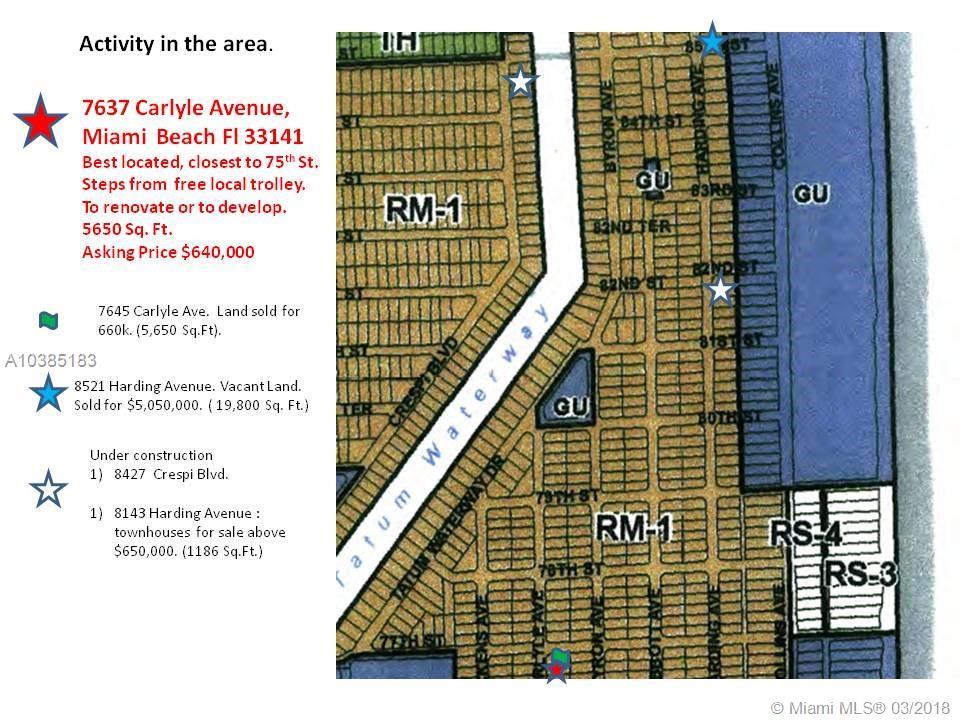 7637 Carlyle Ave, Miami Beach , FL 33141